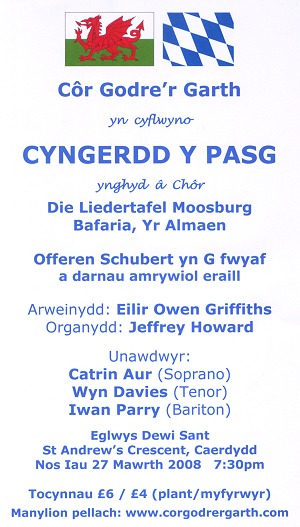 Cyngerdd Pasg 2008